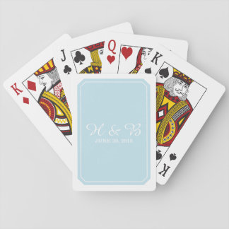 Blue Simply Elegant Playing Cards