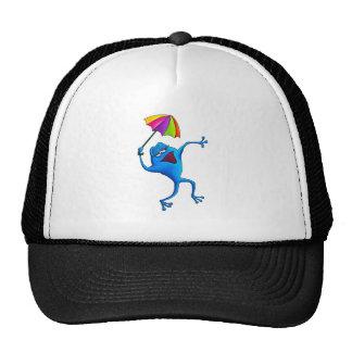 Blue Singing Frog with Umbrella Cap