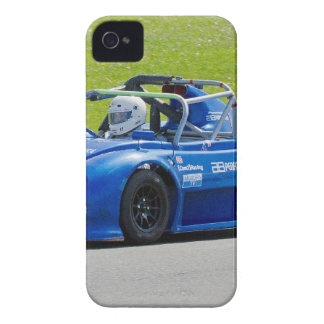 Blue single seater race car iPhone 4 case