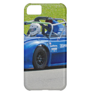Blue single seater race car iPhone 5C covers