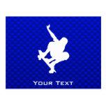 Blue Skateboarding