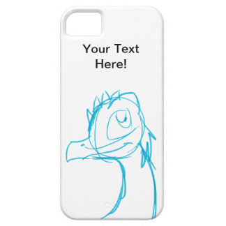 Blue Sketch Dragon iPhone 5 Cover