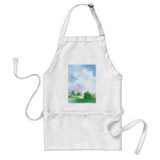 blue skies adult apron