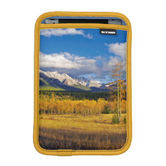 Blue skies and clouds above a meadow iPad mini sleeve