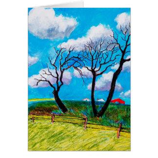 Blue Skies Card