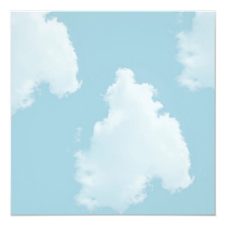 Blue Skies Clouds 13 Cm X 13 Cm Square Invitation Card