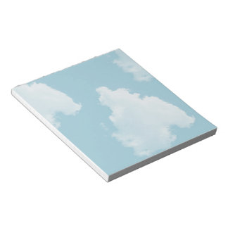 Blue Skies Clouds Notepad