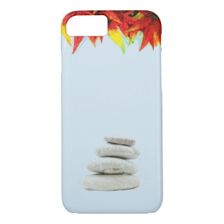 Blue Skies, Colorful Leaves, and Stones iPhone 8/7 Case