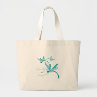 Blue Skies & Dragonflies Canvas Bag