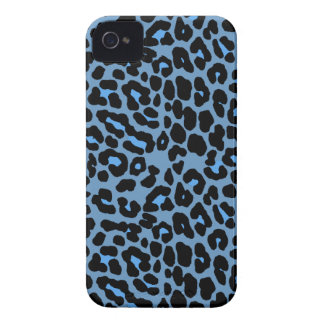 Blue Skies leopard print fashion design iPhone 4 Case-Mate Case