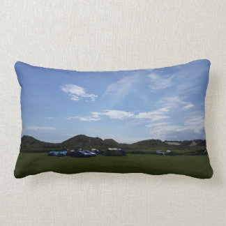 Blue Skies Over Hillend Campsite Cushion