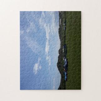 Blue Skies Over Hillend Campsite Photo Puzzle