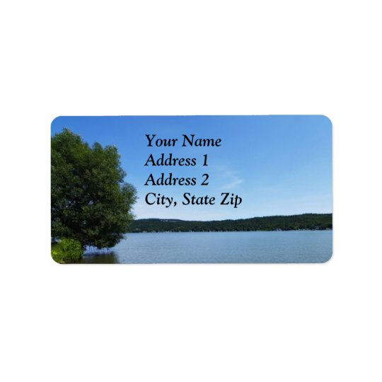 Blue Skies over Otisco Lake Label