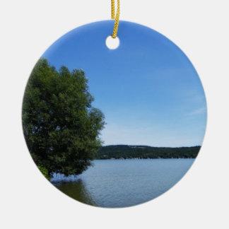 Blue Skies over Otisco Lake Ornament