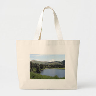 Blue Skies over Silver Lake Tote Bags