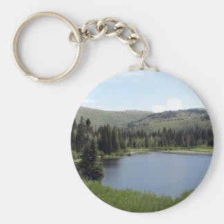 Blue Skies over Silver Lake Key Chain
