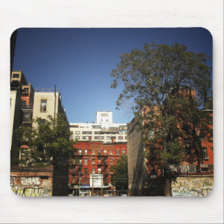 Blue Skies Over the East Village Mouse Pad