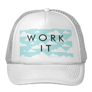 Blue Skies White Clouds Whimsical Sky Pattern Hat