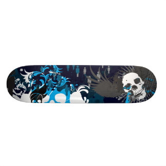 Blue Skull 21.3 Cm Mini Skateboard Deck