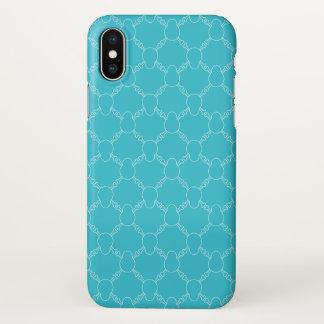 Blue Skull and Bones pattern iPhone X Case