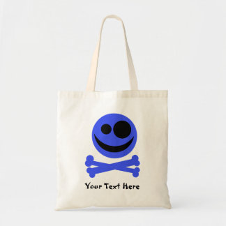 Blue Skull and Crossbones. Bags
