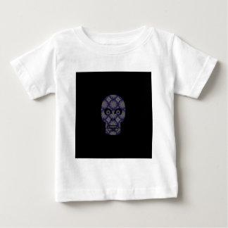 Blue Skull Fractal Pattern Baby T-Shirt