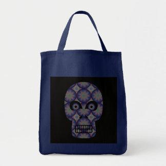 Blue Skull Fractal Pattern Bag