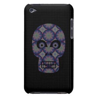 Blue Skull Fractal Pattern iPod Touch Cases