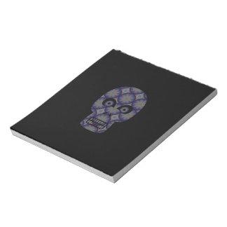 Blue Skull Fractal Pattern Notepad