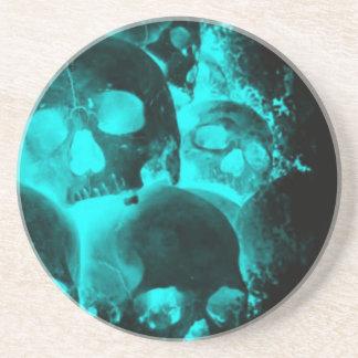 Blue Skull Glow Coasters