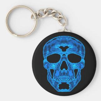 Blue Skull Horror Mask Key Ring