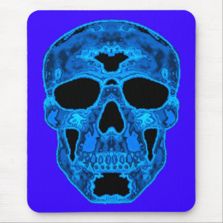 Blue Skull Horror Mask Mouse Mat