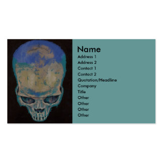 Blue Skull Pack Of Standard Business Cards