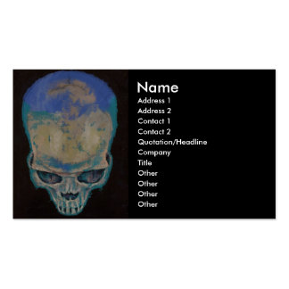 Blue Skull Pack Of Standard Business Cards