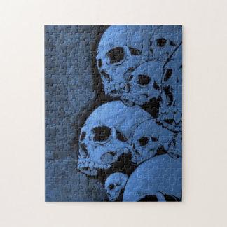 Blue skull pattern jigsaw puzzle
