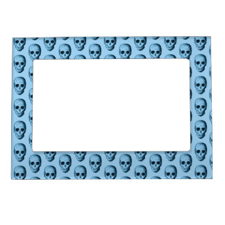 Blue Skull Pattern. Magnetic Frame