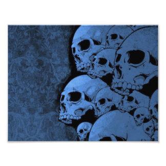 Blue skull pattern photograph