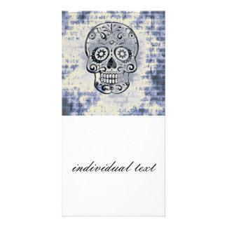 blue skull photo cards