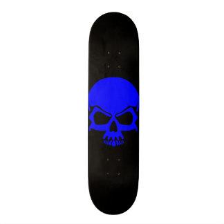 Blue Skull Skateboard