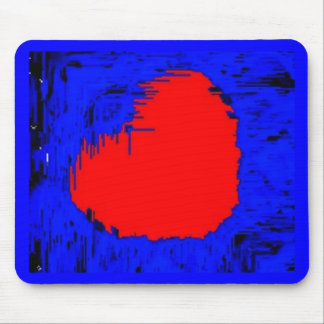 Blue Skull Strawberry Heart Mouse Pad