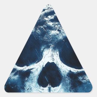 Blue Skull Triangle Sticker
