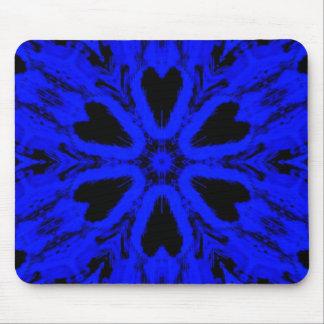 Blue Skull Turnstile Kaleidoscope Mouse Pad