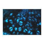 Blue Skulls Leinwand Galerie Gefaltete Leinwand