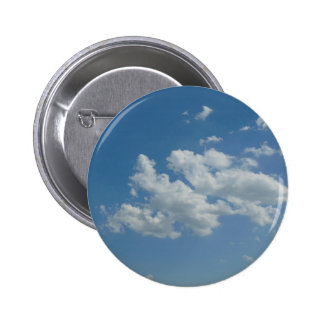 Blue Sky 6 Cm Round Badge