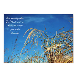 Blue Sky and Beach Grass After Wedding Invitation