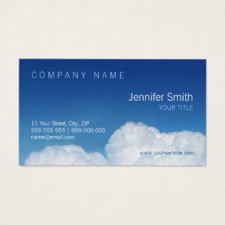 Blue Sky And Clouds business card