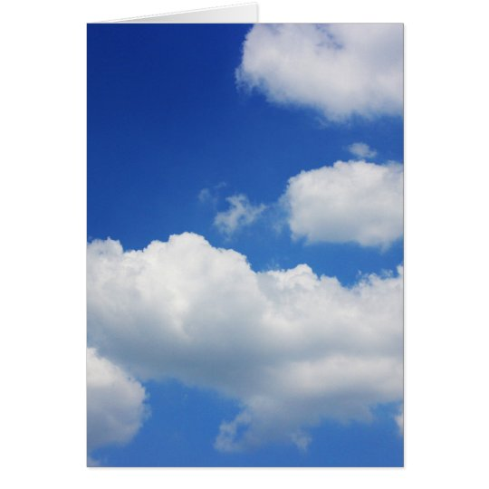 Blue sky and clouds card