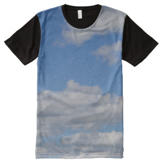 Blue Sky and Clouds All-Over Print T-Shirt