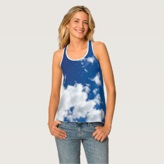 Blue Sky and Clouds Tank Top