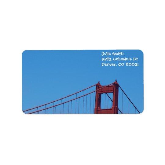 Blue Sky and Golden Gate Address Label